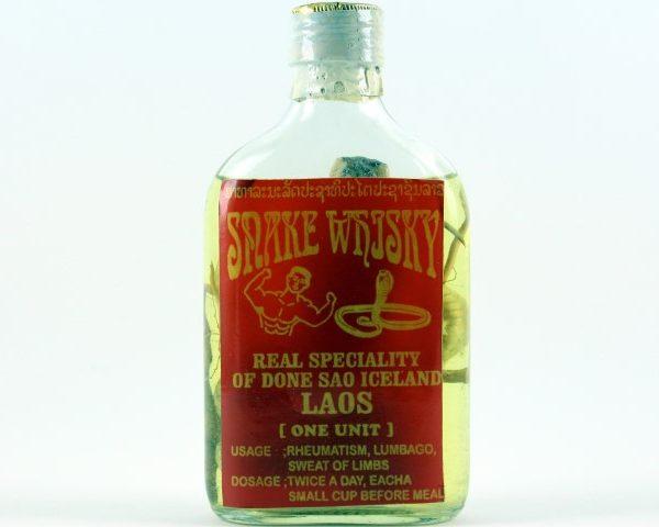 Snake Liquor Authentic from Laos Don Sao Island